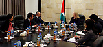 Advisor to Palestinian Prime Minister Khairia Rasas meets with Japanese delegation in the West Bank city of Ramallah, on March 7, 2018. Photo by Prime Minister Office