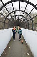 Walkiing to Nunhead Cemetery through Telegraph Hill with Felix and Annuska, London, UK
