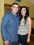 Adam McDonnell celebrating his 21st birthday in the Thatch with girlfriend Lorna Kerr. Photo:Colin Bell/pressphotos.ie
