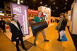 Skills Active Cymru<br /> James Paine from Techniquest with students Georgia Gifford &amp; Olivia Fenton from Pant School in Llantrisant.<br /> Cardiff International Arena<br /> 23.10.14<br /> &copy;Steve Pope-FOTOWALES