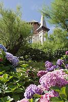 Europe/France/Aquitaine/64/Pyrénées-Atlantiques/Pays Basque/Biarritz: Jardin  d' Hortensias et Villa Le Goêland