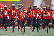 College Park, MD - October 1, 2016: Maryland Terrapins takes the field during game between Purdue and Maryland at  Capital One Field at Maryland Stadium in College Park, MD.  (Photo by Elliott Brown/Media Images International)