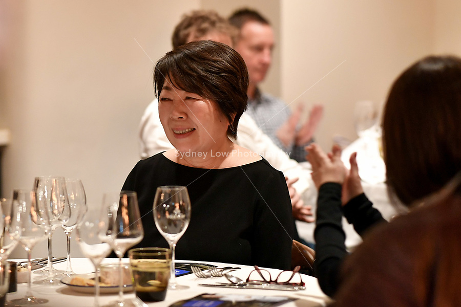 MELBOURNE, 30 June 2017 – Philippe Mouchel's wife at a dinner celebrating his 25 years in Australia with six chefs who worked with him in the past at Philippe Restaurant in Melbourne, Australia.