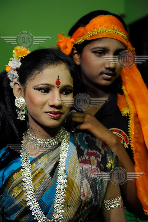 Theatre performance at a boarding school for children of prostitutes in Tangail set up by a local NGO supported by Terre des Hommes, a Dutch NGO