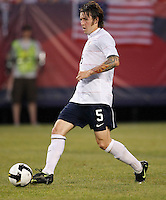 United States defender Dan Califf (5). The men's national teams of the United States and Argentina played to a 0-0 tie during an international friendly at Giants Stadium in East Rutherford, NJ, on June 8, 2008.