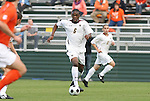 12 November 2008: Boston College's Edvin Worley. Boston College defeated Clemson University 1-0 in the second sudden-victory overtime period at Koka Booth Stadium at WakeMed Soccer Park in Cary, NC in a men's ACC tournament quarterfinal game.