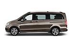 Car Driver side profile view of a 2015 Mercedes Benz V-CLASS AVANTGARDE 5 Door Minivan 2WD Side View