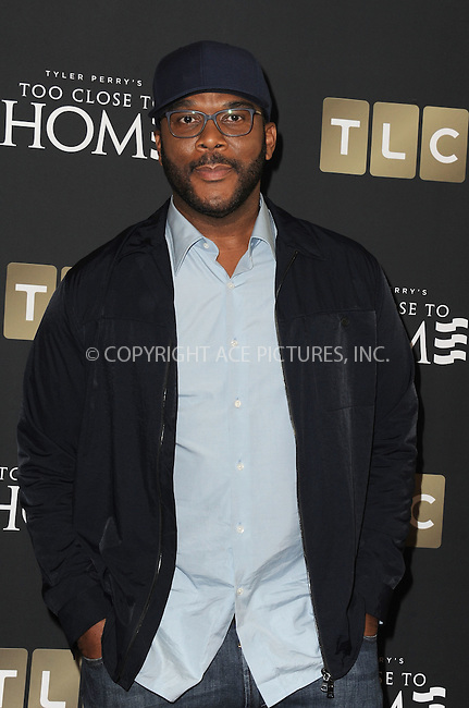 www.acepixs.com<br /> <br /> August 16 2016, New York City<br /> <br /> Tyler Perry arriving at a screening of 'Too Close To Home' at The Paley Center for Media on August 16, 2016 in Beverly Hills, California.<br /> <br /> By Line: Peter West/ACE Pictures<br /> <br /> <br /> ACE Pictures Inc<br /> Tel: 6467670430<br /> Email: info@acepixs.com<br /> www.acepixs.com