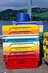 Colourful fish containers Union Hall, County Cork, Ireland