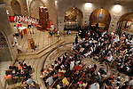 Israel, Jerusalem, Pentecost mass at the Dormition Church on Mount Zion