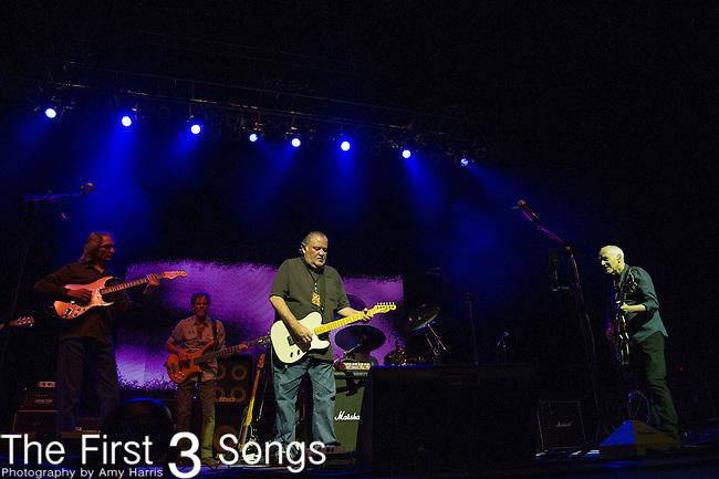 Peter Frampton, Sonny Landreth, and David Hidalgo of Los Lobos performs during the Frampton's Guitar Circus at Riverbend Music Center in Cincinnati, Ohio.