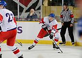 Dawson Creek, BC - Dec 9 2019: Game 5 - Czech Republic vs. USA at the 2019 World Junior A Championship at the ENCANA Event Centre in Dawson Creek, British Columbia, Canada. (Photo by Matthew Murnaghan/Hockey Canada)