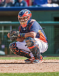 12 March 2014: Houston Astros catcher Rene Garcia in action during a Spring Training game against the Washington Nationals at Osceola County Stadium in Kissimmee, Florida. The Astros rallied in the bottom of the 9th to edge out the Nationals 10-9 in Grapefruit League play. Mandatory Credit: Ed Wolfstein Photo *** RAW (NEF) Image File Available ***