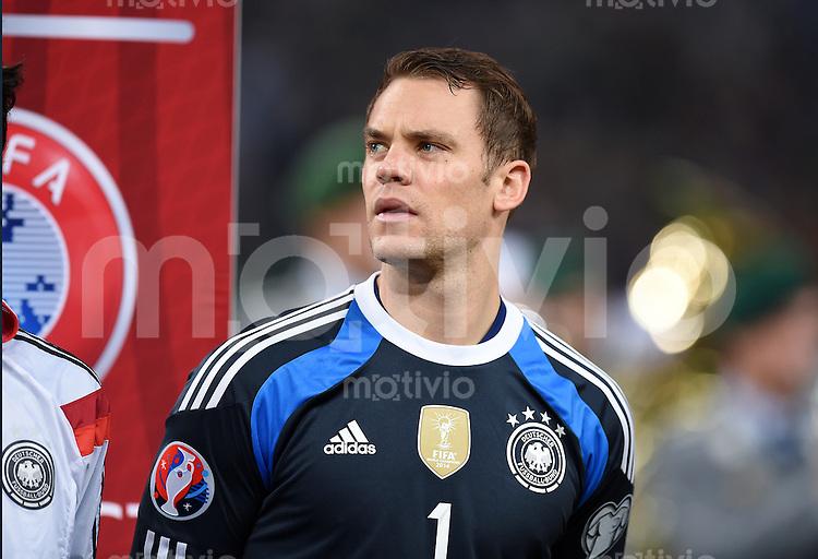 Fussball International EM 2016-Qualifikation  Gruppe D  in Gelsenkirchen 14.10.2014 Deutschland - Irland Torwart Manuel Neuer (Deutschland)