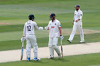 Rishi Patel and Tom Westley in batting action for Essex during Essex CCC vs Yorkshire CCC, Specsavers County Championship Division 1 Cricket at The Cloudfm County Ground on 8th July 2019