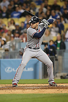 05/26/15 Los Angeles, CA: Atlanta Braves first baseman Freddie Freeman #5 during an MLB game played at Dodger Stadium between the Los Angeles Dodgers and the Atlanta Braves. The Dodgers defeated the Braves 8-0.