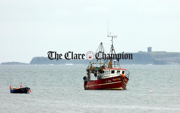 Fishing boats Doonbeg Pier.Pic Arthur Ellis.