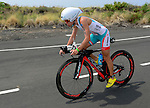 KAILUA-KONA, HI - OCTOBER 12:  Mirinda Carfrae of Australia competes in the bike portion during the 2013 Ironman World Championship on October 12, 2013 in Kailua-Kona, Hawaii. (Photo by Donald Miralle) *** Local Caption ***