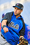 6 June 2009: New York Mets' outfielder Carlos Beltran warms up prior to a game against the Washington Nationals at Nationals Park in Washington, DC. The Mets fell to the Nationals 7-1 as Nats' starting pitcher John Lannan tossed his first career complete-game win. Mandatory Credit: Ed Wolfstein Photo
