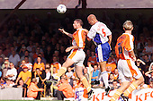 23/09/2000 Football League Division 3 Blackpool v Chesterfield<br /> <br /> 38155 Murphy header<br /> <br /> © Phill Heywood