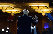 United States President Donald Trump delivers remarks to the Conservative Political Action Conference (CPAC) at National Harbor, Maryland, February 24, 2017.<br /> Credit: Olivier Douliery / Pool via CNP