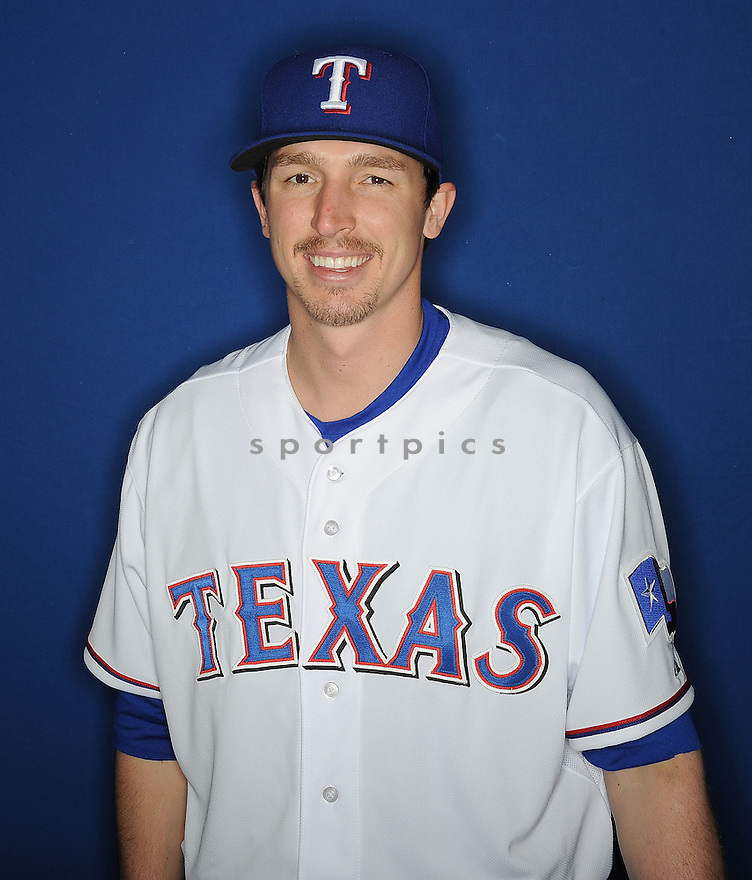 Texas Rangers Tanner Scheppers (52) at media photo day during spring training on February 20, 2013 in Surprise, AZ