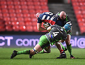 23rd March 2018, Ashton Gate, Bristol, England; RFU Rugby Championship, Bristol versus Yorkshire Carnegie; Jack Whetton of Yorkshire Carnegie tackles Joe Latta of Bristol