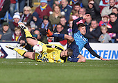 02/05/16 Sky Bet League Championship  Burnley v QPR<br /> Tom Heaton saves from Michael Petrasso