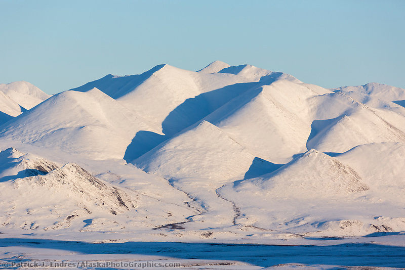 Snow coverd slopes of the Brooks Range, Arctic, Alaska.
