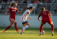 Boyds, MD. - Saturday, June 24 2017: Tori Huster, Hayley Raso  during a regular season National Women's Soccer League (NWSL) match between the Washington Spirit and the Portland Thorns FC at Maureen Hendricks Field, Maryland SoccerPlex.<br />  The Washington Spirit defeated the Portland Thorns FC 1-0.