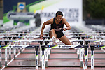 EUGENE, OR - JUNE 09: Kendell Williams of the University of Georgia competes in the 100 meter hurdles as part of the Heptathlon during the Division I Women's Outdoor Track & Field Championship held at Hayward Field on June 9, 2017 in Eugene, Oregon. (Photo by Jamie Schwaberow/NCAA Photos via Getty Images)