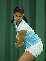 10-3-06, Netherlands, tennis, Rotterdam, National indoor junior tennis championchips, Joany Pontjodikromo