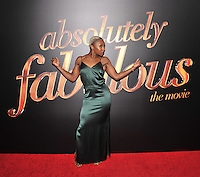 New York,NY-May 18: Cynthia Erivo attend the 'Absolutely Fabulous: The Movie' New York premiere at SVA Theater on July 18, 2016 in New York City. @John Palmer / Media Punch