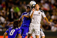 LA Galaxy midfielder Chris Klein and Kansas City Wizard midfielder Craig Rocastle go head to head for a ball. The Kansas City Wizards beat the LA Galaxy 2-0 at Home Depot Center stadium in Carson, California on Saturday August 28, 2010.