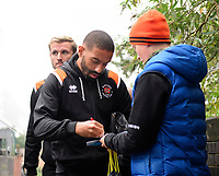 Blackpool's Liam Feeney signs an autograph for a fan after arriving at the ground<br /> <br /> Photographer Chris Vaughan/CameraSport<br /> <br /> The EFL Sky Bet League One - Coventry City v Blackpool - Saturday 7th September 2019 - St Andrew's - Birmingham<br /> <br /> World Copyright © 2019 CameraSport. All rights reserved. 43 Linden Ave. Countesthorpe. Leicester. England. LE8 5PG - Tel: +44 (0) 116 277 4147 - admin@camerasport.com - www.camerasport.com