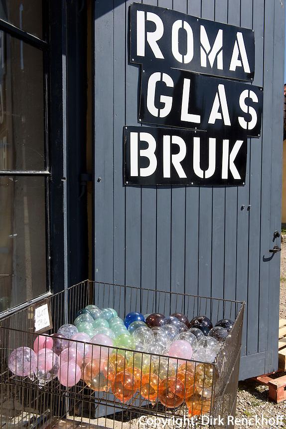 Glasbl&auml;serei Roma Glasbruk auf der Insel Gotland, Schweden, Europa<br /> glassblowing Roma Glasbruk, Isle of Gotland, Sweden