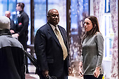 Lockheed Martin Senior Vice President Leo S. Mackay, Jr. is seen in the lobby of Trump Tower in New York, NY, USA on January 3, 2017. <br /> Credit: Albin Lohr-Jones / Pool via CNP