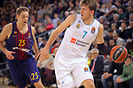 Turkish Airlines Euroleague 2017/2018.<br /> Regular Season - Round 23.<br /> FC Barcelona Lassa vs R. Madrid: 74-101.<br /> Petteri Koponen vs Luca Doncic.