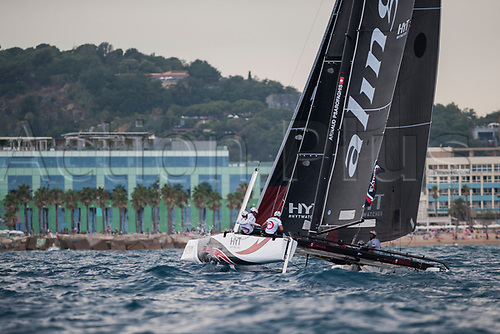 July 23rd 2017, Barcelona, Spain; Extreme Sailing Series, Act 4, Sunday Session;  <br />