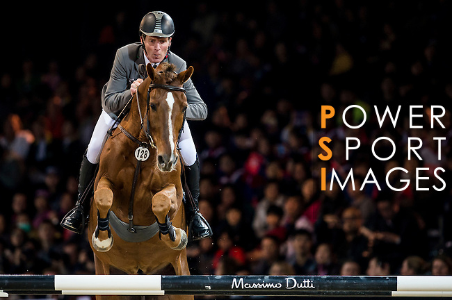 Ludger Beerbaum of Germany riding Zinedine  in action during the Hong Kong Jockey Club Trophy competition as part of the Longines Hong Kong Masters on 13 February 2015, at the Asia World Expo, outskirts Hong Kong, China. Photo by Victor Fraile / Power Sport Images