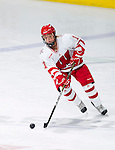 Wisconsin Badgers Derya Kelter (11) of the women's hockey team during a photo shoot. This was a staged action shot for the UW Marketing Department. (Photo by David Stluka)