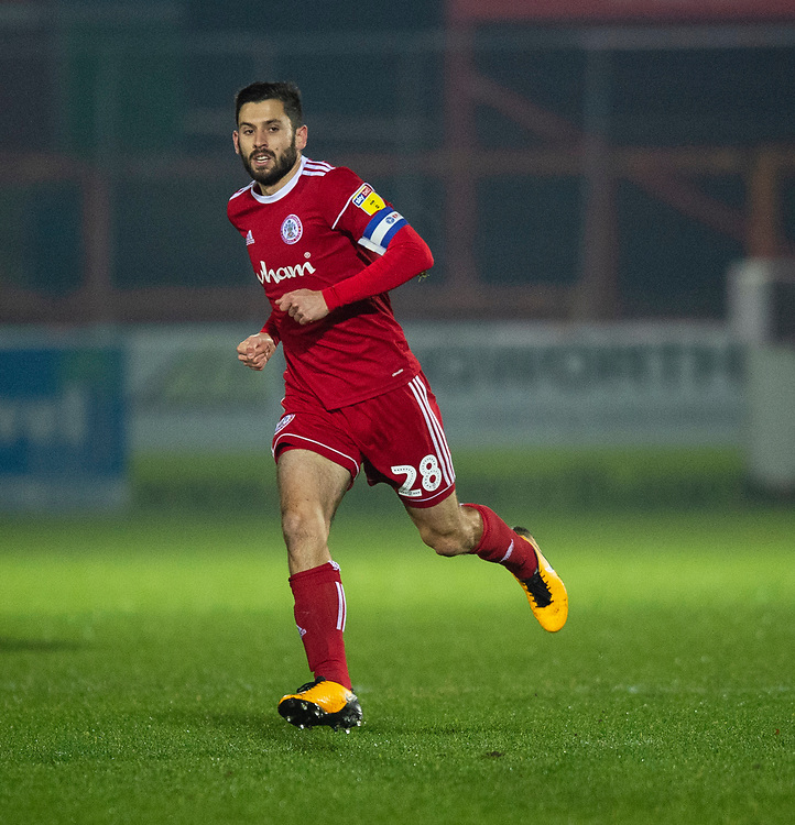 Accrington Stanley's Seamus Conneely<br /> <br /> Photographer Andrew Vaughan/CameraSport<br /> <br /> The EFL Checkatrade Trophy Second Round - Accrington Stanley v Lincoln City - Crown Ground - Accrington<br />  <br /> World Copyright &copy; 2018 CameraSport. All rights reserved. 43 Linden Ave. Countesthorpe. Leicester. England. LE8 5PG - Tel: +44 (0) 116 277 4147 - admin@camerasport.com - www.camerasport.com