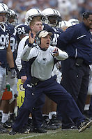 18 November 2006:  Penn State defensive coordinator Tom Bradley.  The Penn State Nittany Lions defeated the Michigan State Spartans 17-13 for the Land Grant Trophy November 18, 2006 at Beaver Stadium in State College, PA..