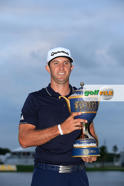 Dustin Johnson (USA) winner of the WGC Cadillac Championship, Blue Monster, Trump National Doral, Doral, Florida, USA<br /> Picture: Fran Caffrey / Golffile