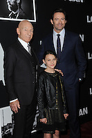 www.acepixs.com<br /> February 24, 2017  New York City<br /> <br /> Patrick Stewart, Dafne Keen and Hugh Jackman attending the 'Logan' New York screening at Rose Theater, Jazz at Lincoln Center on February 24, 2017 in New York City.<br /> <br /> Credit: Kristin Callahan/ACE Pictures<br /> <br /> Tel: 646 769 0430<br /> Email: info@acepixs.com