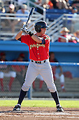 State College Spikes third baseman Chase Lyles (13) during a game vs. the Batavia Muckdogs at Dwyer Stadium in Batavia, New York August 29, 2010.   Batavia defeated State College 6-4.  Photo By Mike Janes/Four Seam Images