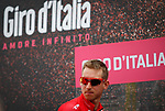 Bauke Mollema (NED) Trek-Segafredo at sign on before the start of Stage 6 of the 100th edition of the Giro d'Italia 2017, running 217km from Reggio Calabria to Terme Luigiane, Italy. 11th May 2017.<br /> Picture: LaPresse/Simone Spada | Cyclefile<br /> <br /> <br /> All photos usage must carry mandatory copyright credit (&copy; Cyclefile | LaPresse/Simone Spada)
