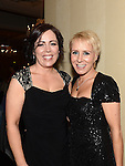 Julie and Tracy Halton pictured at the Drogheda Athletic Club annual dinner in the Westcourt Hotel. Photo:Colin Bell/pressphotos.ie