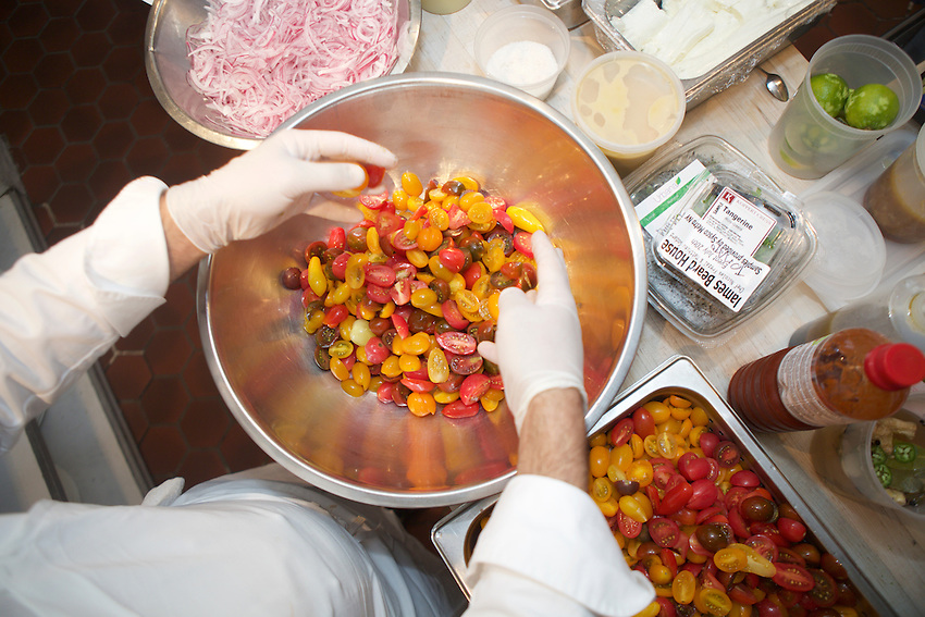 New York, NY - July 20, 2016: Chefs from Bagatelle restaurants around the world present dinner at the James Beard House.<br /> <br /> CREDIT: Clay Williams for the James Beard Foundation.<br /> <br /> &copy; Clay Williams / claywilliamsphoto.com