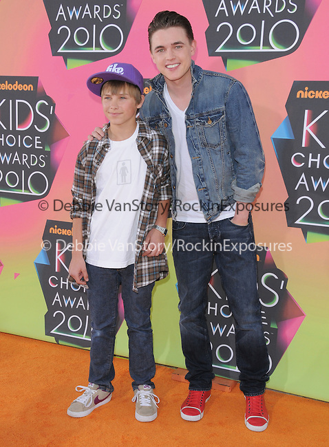 Jesse McCartney & his little brother at Nickelodeon's 23rd Annual Kids' Choice Awards held at Pauley Pavilion in Westwood, California on March 27,2010                                                                                      Copyright 2010 © DVS / RockinExposures